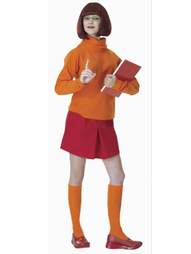 Scooby Doo Cartoon Character Velma Costume Couples Costume Idea