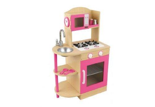 Pink Wooden Toy Kitchen By Kidkraft