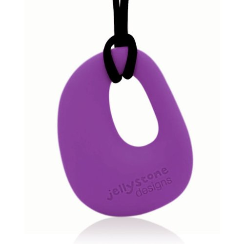 Organic Pendant - Silicone Necklace (Teething/Nursing) (Purple Grape) - 1