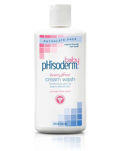 pHisoderm Baby Tear-Free Cream Wash, 8-Ounce Bottles (Pack of 3)