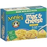Annie`s Homegrown Rice Pasta & Wisconsin Cheddar Mac Cheese 10.7 OZ (PACK OF 3)