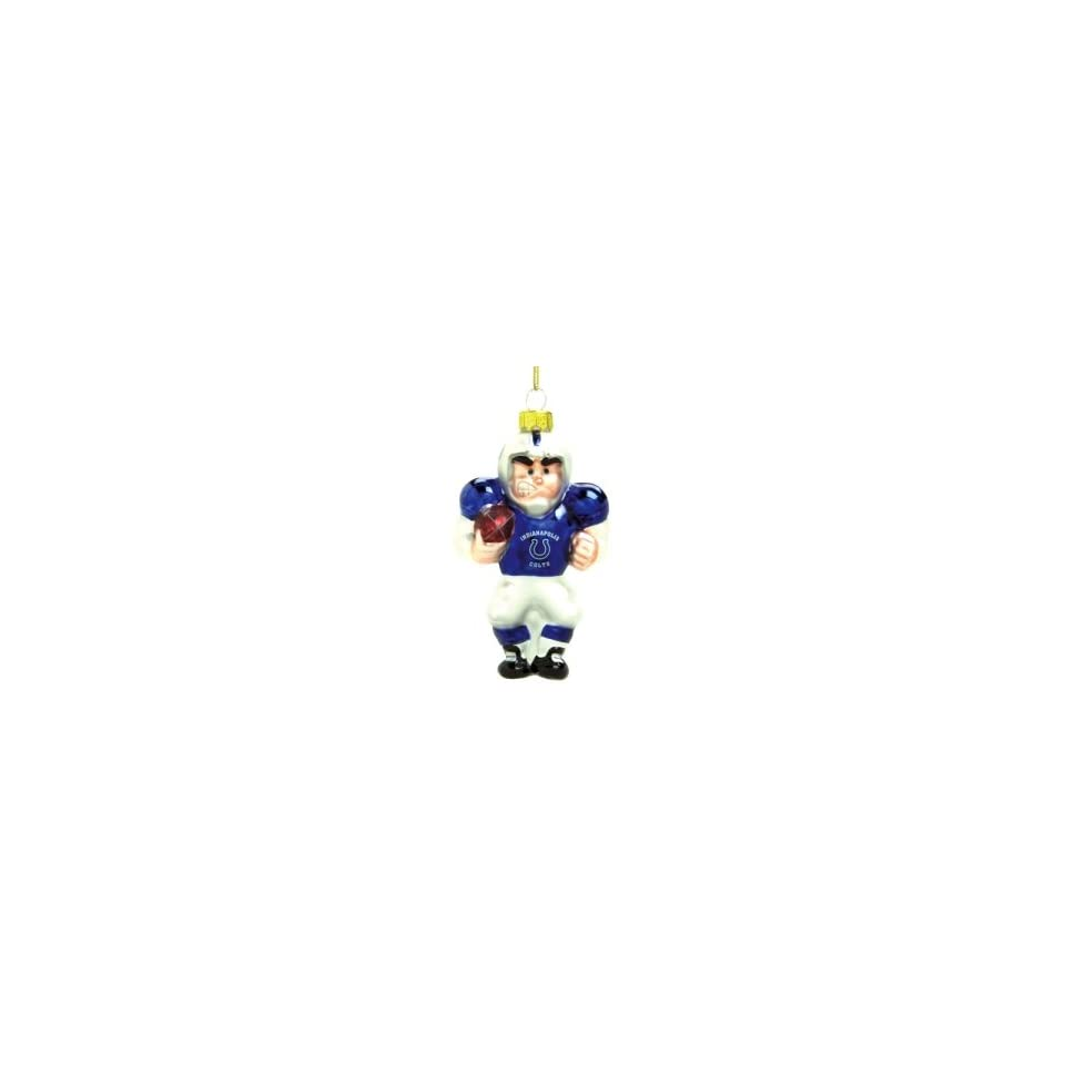 Indianapolis Colts NFL Glass Player Ornament (5 Caucasian)