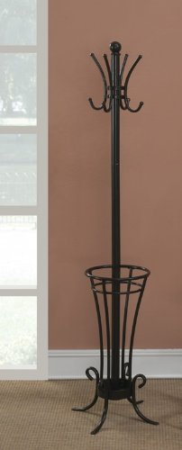 Antique Design with Umbrella Holder Coat Rack in Black