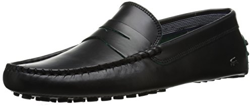 Lacoste Men's Concours 10 LCR Srm Slip-On Loafer, Black, 9 M US