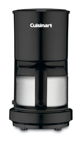 Cuisinart DCC-450BK 4-Cup Coffeemaker With Stainless-Steel Carafe - Black (Certified Refurbished ...
