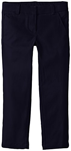 Nautica Little Girls' Stretch Twill Skinny Bootcut Pant with Waistband, Su Navy, 6X