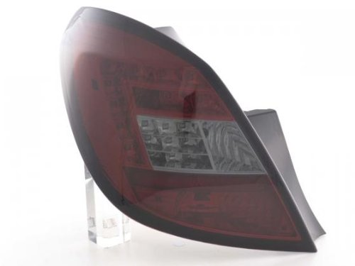 Led Taillights Opel Corsa D 5-Door Yr. 06-10 Red/Black