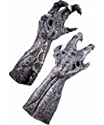 Aliens Vs Predator Costume with Requiem And Deluxe Alien Hands, Gray, One Size