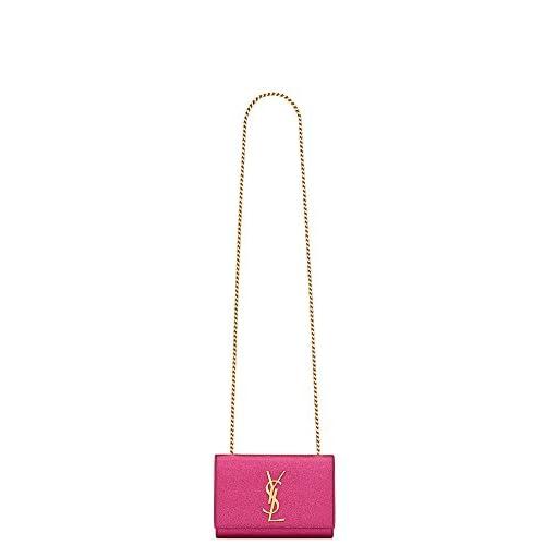 (サンローランパリ) Saint Laurent Classic Small Monogram Saint Laurent Satchel in Pink Textured Metallic Leather (並行輸入品) LASTERR