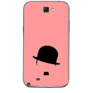 Skin4gadgets Hipster Charlie, Color - Salmon Phone Skin for SAMSUNG GALAXY NOTE 2 (N7100)