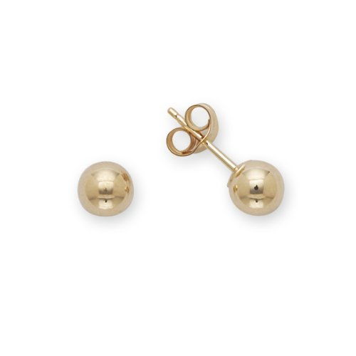 Baby Ball Earrings 14k Yellow Gold (5mm)