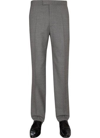Austin Reed Contemporary Fit Grey Stripe Trousers REGULAR MENS 38