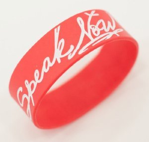 Speak Now Red Rubber Bracelet