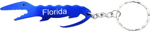Florida Gator Bottle Opener With Keychain (Blue)