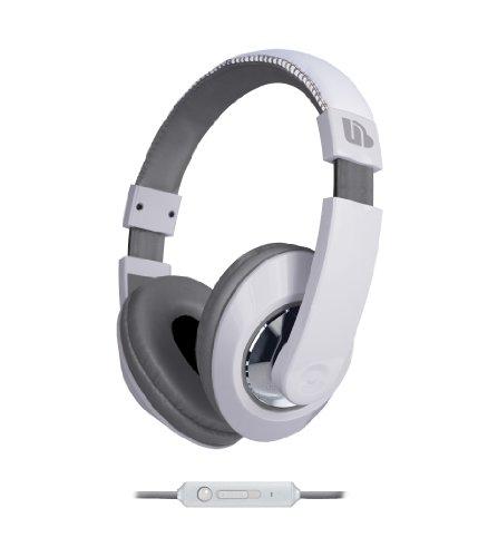 Urban Beatz Tempo Headphone Mic - White/Grey (M-Hm706)