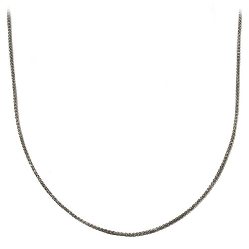 Sterling Silver 2mm Spiga Chain Necklace, 18""