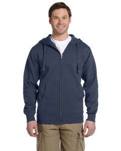 Econscious Mens 9 Oz. Organic/Recycled Full-Zip Hood - Medium - Pacific front-292357