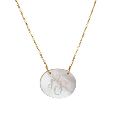 Soixante Neuf- Oval Light Mother Of Pearl Monogram