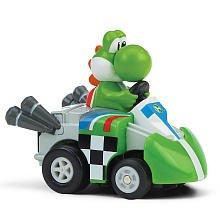 Air Hogs Mario Kart Wii Exclusive Pull Back Racer GoKart Yoshi - 1