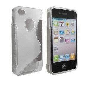 kelpuj S-line TPU/Rubber Back cover for Apple iphone 4 /4S - Transparent White