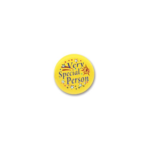 "Beistle BN019 Very Special Person Satin Button, 2"", 6 Per Package"