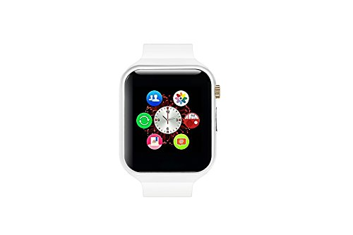 Mynike Smart Watch Bluetooth Fitness WristWatch Waterproof Smartwatch with Camera Pedometer Anti-lost Men Women Health Bracelet Watch for Apple iphone 6S IOS Samsung S7 Android Smartphone (White) (Samsung Omega Lcd Screen compare prices)