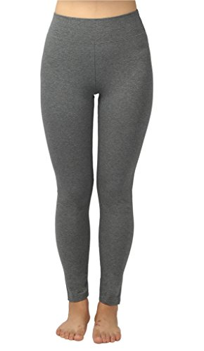 4How Women's Tights Pants Fitness Workout Leggings Grey Medium