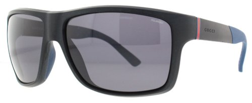 Gucci GG1041/S Sunglasses-0DL5 Matte Black (3H Smoke Polarized Lens)-62mm