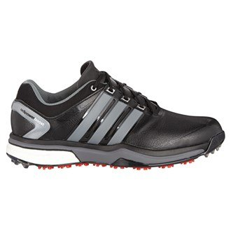 2015 Adidas Adipower Boost Tour Mens Waterproof Golf Shoes - Wide Fitting Core Black/Neo Iron Metallic 10.5UK