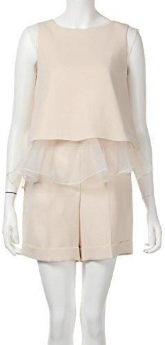 Amazon.co.jp: (フレイ アイディー)FRAY I.D ショーパンコンビネゾン FWFO152740 3701 BEGxWHT 1: 服&ファッション小物