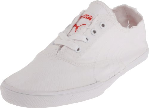 PUMA Women's Tekkies SKA Footbed OC Fashion Sneaker,White/Fiery Red,10.5 B US