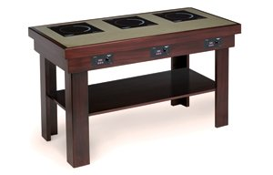 Cherry Vollrath 75522 Induction Buffet Table with 3 Ranges 120V