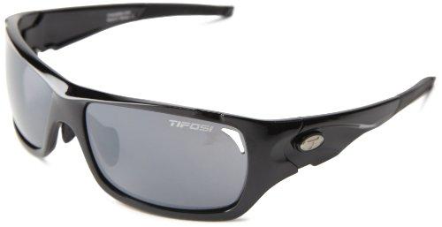 Tifosi Duro 1030200215 Wrap Sunglasses,Gloss Black,150 Mm