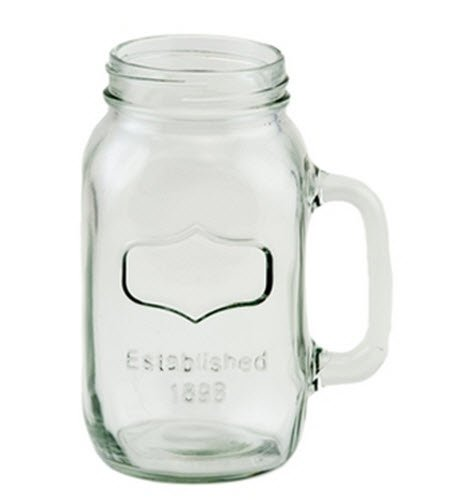 38oz Quart Mason Jar Mugs Embossed Area for Personalization [Set of 2]