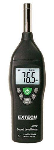 Extech 407732 Type 2 35 Decibel To 130 Decibel Digital Sound Level Meter