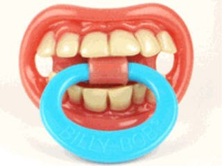 Billybob Thumb Sucker big funny TEETH kid child toddler Novelty halloween costume BABY PACIFIER Billy Bob. $5.97