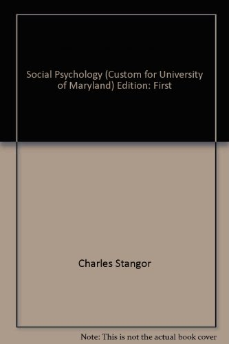 Preliminary Edition Social Psychology