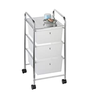 Simple Super Convenient Storage Cabinet On Wheels With 4 Drawers Provides