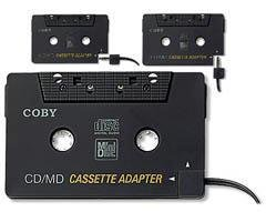 Coby Dual Position CD/MD/MP3 Cassette Adapter (CA-747) -