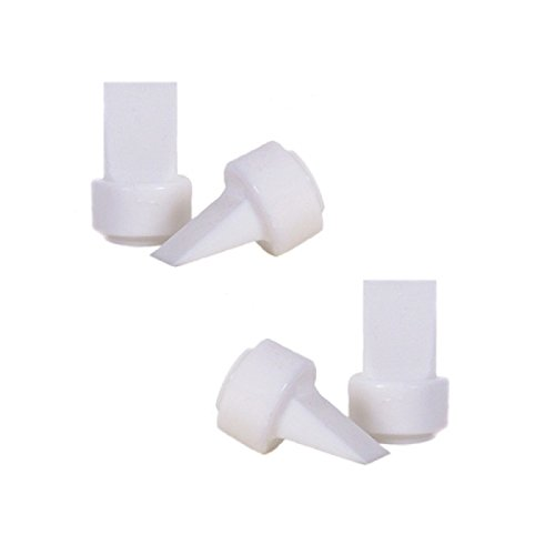 Maymom Pump Valves for Philips AVENT ISIS Breast Pumps; Duckbills to Replace Philips AVENT Valves Used in Manual, Single Electric Breastpump and Twin Electric Breast Pumps Valves (aka Avent Duckbills or Philips Valves or Avent ISIS Valves); 4 Pieces in Retail Package (Factory Sealed).