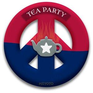 Tea Party Peace Sign Removable Sticker