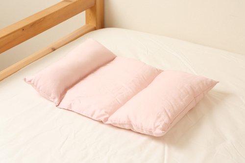 携帯できる 低い枕 -柔らかめ 高さ調節可能-【おうちまくら】日本製 丸洗いOK -低い枕がお好みの女性におすすめ