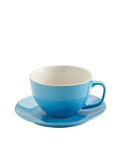 Price & Kensington Large Cup & Saucer, Bright Blue