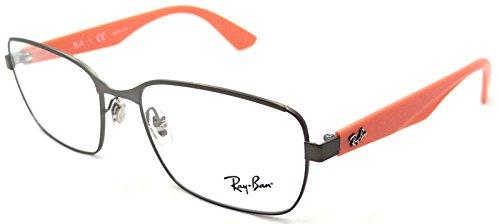 Ray-ban Rx Eyeglasses Frames Rb 6308 2817 53x17 Gunmetal Orange
