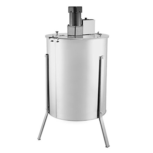 FoodKing Honey Extractor Electric Honey Extractor Honeycomb Spinner 4 Frame Stainless Steel Electric Beekeeping Supply Beehive Processing (4 Frame Electric Honey Extractor) (Honeycomb Shaped Jar compare prices)