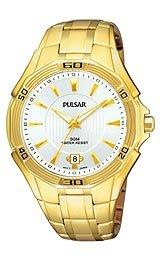 Pulsar Gold-tone Bracelet Silver Dial Men's watch #PXH994