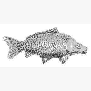 Pewter Pin Badge Fishing Common Carp by JEWELLERY GIFT PALACE
