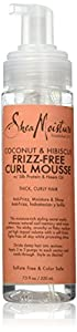 SheaMoisture Coconut & Hibiscus Frizz-Free Curl Mousse, 7.5 Ounce