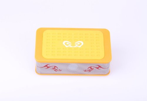 X-Flowtm 2014 New Design Portable Mini Wireless Magic Speaker Speakers Induction Amplifier Speakers For Iphone 5 4S Htc Samsung And All Other Phones & Digital Media Device (Yellow)