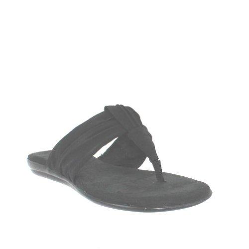 Womens Black Flip Flops front-480585